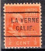 USA Precancel Vorausentwertung Preo, Locals California, La Verne 712 - Vereinigte Staaten