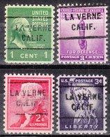 USA Precancel Vorausentwertung Preo, Locals California, La Verne 712, 4 Diff. - Vereinigte Staaten