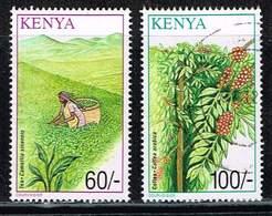 Kenia 2001, Michel# 757 + 759 O Tea (Camellia Sinensis)/ Coffee (Coffea Arabica) - Kenia (1963-...)