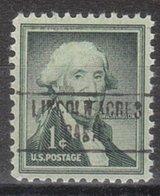USA Precancel Vorausentwertung Preo, Locals California, Lincoln Arces 748 - Vereinigte Staaten