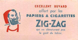 Buvard Ancien ZIG ZAG PAPIERS A CIGARETTES - Tabak & Cigaretten