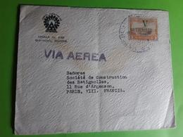 ECUADOR Carta Aereo GUAYAQUIL Lettre Avion Yvert 141 A Surchargé V Setiembre 1945, 3 Sucres > Paris TB - Ecuador