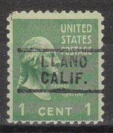 USA Precancel Vorausentwertung Preo, Locals California, Llano 729 - Vereinigte Staaten