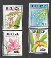 E482 BELIZE NATURE FLORA FLOWERS CHRISTMAS 1997 #1186-89 SET MNH - Plants