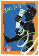 ANGOULEME--carte Publicitaire  CCI  Angoulême (homme,téléphone),cpm Carte à Pub--Création LE CARPENTIER - Angouleme