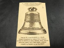 Le «BOURDON» Des 400 000 Morts De Verdun De La Tour De L'Ossuaire De Douaumont «Louise Anne Charlotte» 1930 Timbrée - Douaumont