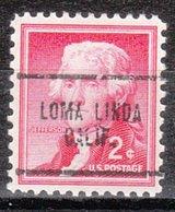 USA Precancel Vorausentwertung Preo, Locals California, Lome Linda 704 - Vereinigte Staaten