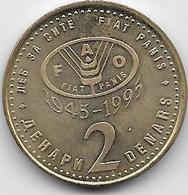Macédoine - 2 Denars - 1995 - Macedonia