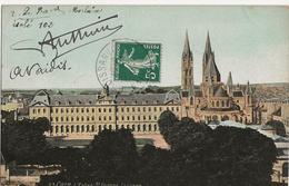 Caen L'Eglise Saint Etienne Le Lycée  Autographes Coureurs Tour De France 1909 Le Bars Vaidis Anthoine - Cyclisme