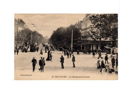Toulouse. Le Boulevard Carnot. Tramway, Attelages, Terrasse Café. CAD Toulouse 1925. (3200) - Toulouse