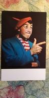 RUSSIA. CLOWN ANDREJ NIKOLAEV Rare Postcard 1960s - Circus