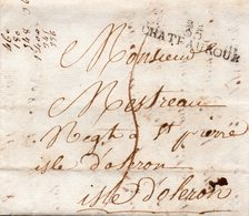 Lettre Complète De Texte (35) CHATEAUROUX De 1823 - Postmark Collection (Covers)