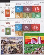 Libyan Topics LRA Blocks Bl.2,3,8A/B,39+49 ** 56€ Malaria Military Monument Hoja Olympics M/s Blocs Sheets Bf Sport - Timbres
