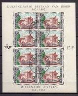 BLOK 33 IEPER  GESTEMPELD 1962 - Blocks & Sheetlets 1962-....