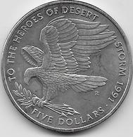 Marshall - 5 Dollars - 1991 - Islas Marshall
