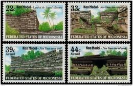 ~~~ Micronesia 1985 - Nan Madol Ruines - Mi. 45/48  ** MNH ~~~ - Micronesië