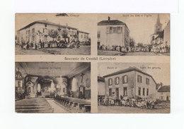 Souvenir De Conthil. Lorraine. Multivues. Ecoles. Eglise. CAD Hexagonal Conthil 1923. (3202) - France