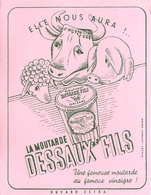 Buvard Ancien MOUTARDEDESSAUX FILS - Moutardes