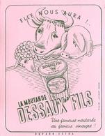 Buvard Ancien MOUTARDEDESSAUX FILS - Mostard