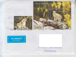 ALBANIA  LYNX On Circulated Cover - Registered Shipping! Envoi Enregistre! - Felini
