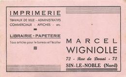 Buvard Ancien PAPETERIE IMPRIMERIE LIBRAIRIE - MARCEL WIGNIOLLE - SIN LE NOBLE - Stationeries (flat Articles)