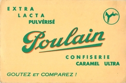 Buvard Ancien CHOCOLAT POULAIN CONFISERIE ET CARAMEL - Chocolat