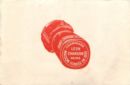 Buvard Ancien CHAMPAGNE FRANCE SAS - LEON CHANDON REIMS - Liqueur & Bière
