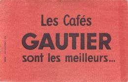 Buvard Ancien CAFE GAUTIER - Café & Thé