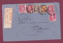 230119 - FRANCE - Lettre Recommandée Bureau Postal Militaire BPM 600  - 1947 - Postmark Collection (Covers)