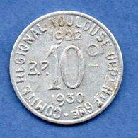 Toulouse  -  10 Centimes 1930  -  état  TTB - Monetary / Of Necessity
