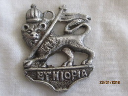Ethiopia: Fancy Lion Of Judah's Pendent (with A Loop) - Pendentifs