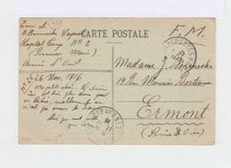 Salonique, Armée D'Orient,  Pour Ermont Seine Et Oise. 1916. FM. CAD Seine Et Oise 1916. (3205) - Grèce