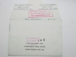 1943 , Zensur , Hinweisstempel Der Auslandspüfstelle Auf Gefangenenbrief Aus  Den USA, Selten - Briefe U. Dokumente