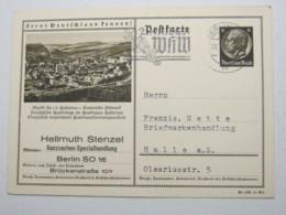 1940 , 6 Pfg. Hindenburg Mit Beidseitigem Textzudruck Aus Berlin - Deutschland