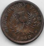 Nouvelle Ecosse - Half Penny - 1840 - Autres – Amérique