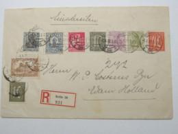 1922 , Privatganzsache 50+60 Pfg. Germania Als Einschreiben Aus Berlin  Nach Holland - Deutschland