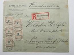 1923 , Hinterhermsdorf , Alter Stempel Auf Einschreiben Mit Massenfrankatur - Lettres & Documents