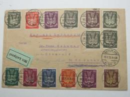 1923 , Brief Aus  Berlin Mit 14 Werten Holztaube , Luftpost - Lettres & Documents