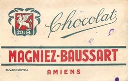 Buvard Ancien CHOCOLAT MAGNIEZ BAUSSART AMIENS - Chocolat