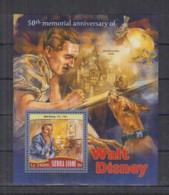 A93. Sierra Leone - MNH - 2016 - Famous People - Walt Disney - Bl - Célébrités