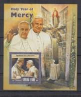 A93. Sierra Leone - MNH - 2016 - Famous People - Religie - Popes - Bl - Célébrités
