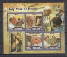 A93. Sierra Leone - MNH - 2016 - Famous People - Religie - Popes - Célébrités