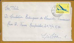 Carta De Barrantes, Caldas Da Rainha Com Stamp 50 Anos Do Aero Clube De Portugal. Flying Without A Motor. - 1910-... République