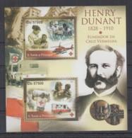C93. S.Tome E Principe - MNH - 2011 - Famous People - Henry Dunant - Bl - Célébrités