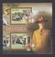 C93. S.Tome E Principe - MNH - 2011 - Famous People - Robert Baden-Powell - Bl - Célébrités