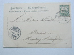 KAMERUN , Ansichtskarte Mit Seepoststempel Hamburg - Westafrika  1905 - Kolonie: Kamerun