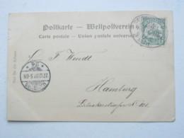 KAMERUN , Ansichtskarte Mit Seepoststempel Hamburg - Westafrika  1902 - Kolonie: Kamerun