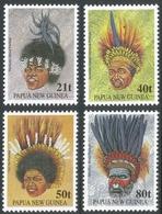 Papua New Guinea. 1991 Tribal Headdresses. MH Complete  Set. SG 658-661 - Papua New Guinea