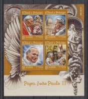 E93. S.Tome E Principe - MNH - 2016 - Famous People - Pope John Paul II - Célébrités