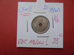 Léopold II. 5 Centimes 1902 VL. FDC ABSOLU !!!!!! - 1865-1909: Leopold II